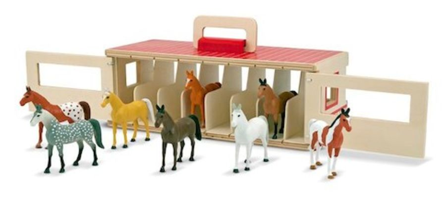 Fold and Go Wooden Show Horse Stable