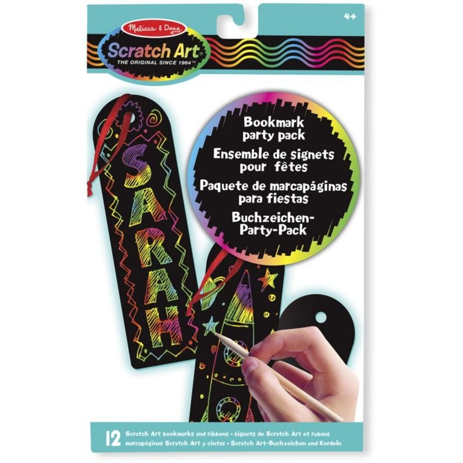 Scratch Art Bookmarks 12 Piece Party Pack