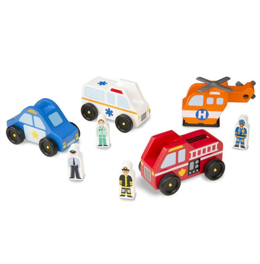 Emergency Vehicle Wooden Play Set