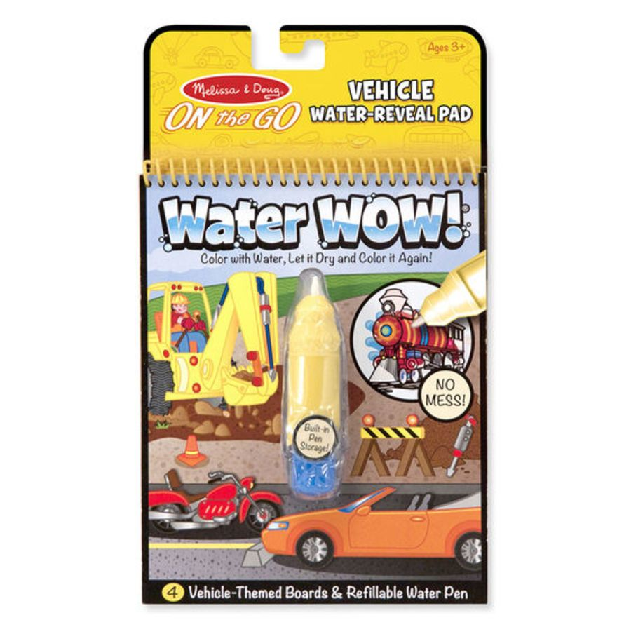 Vehicle Water Wow Magic Colouring Book