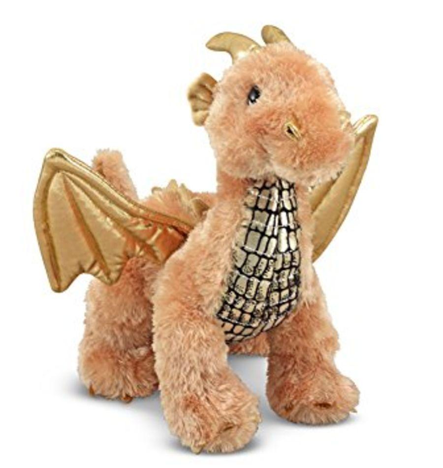 Lustre Dragon Gold Plush Toy