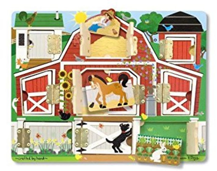 Wooden Magnetic Hide Seek Farm