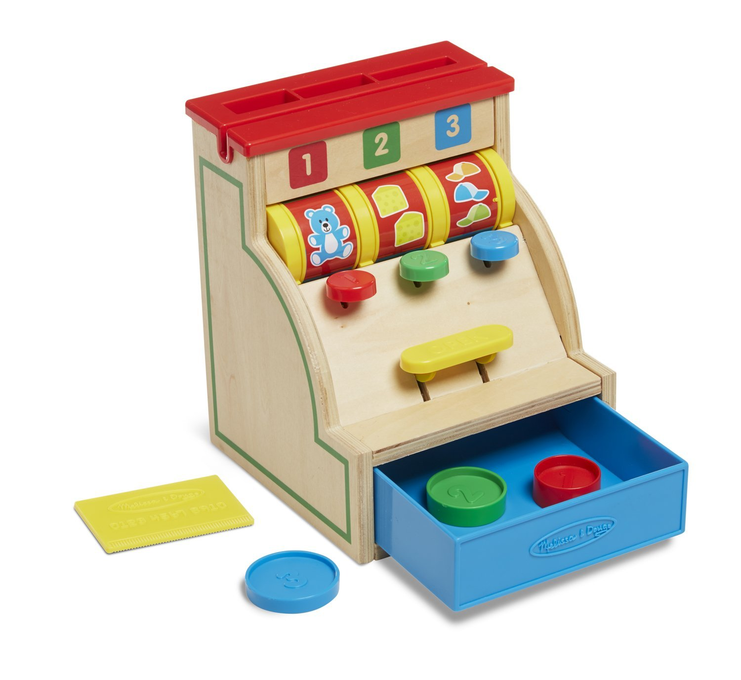 Sort and Swipe Cash Register Wooden Till