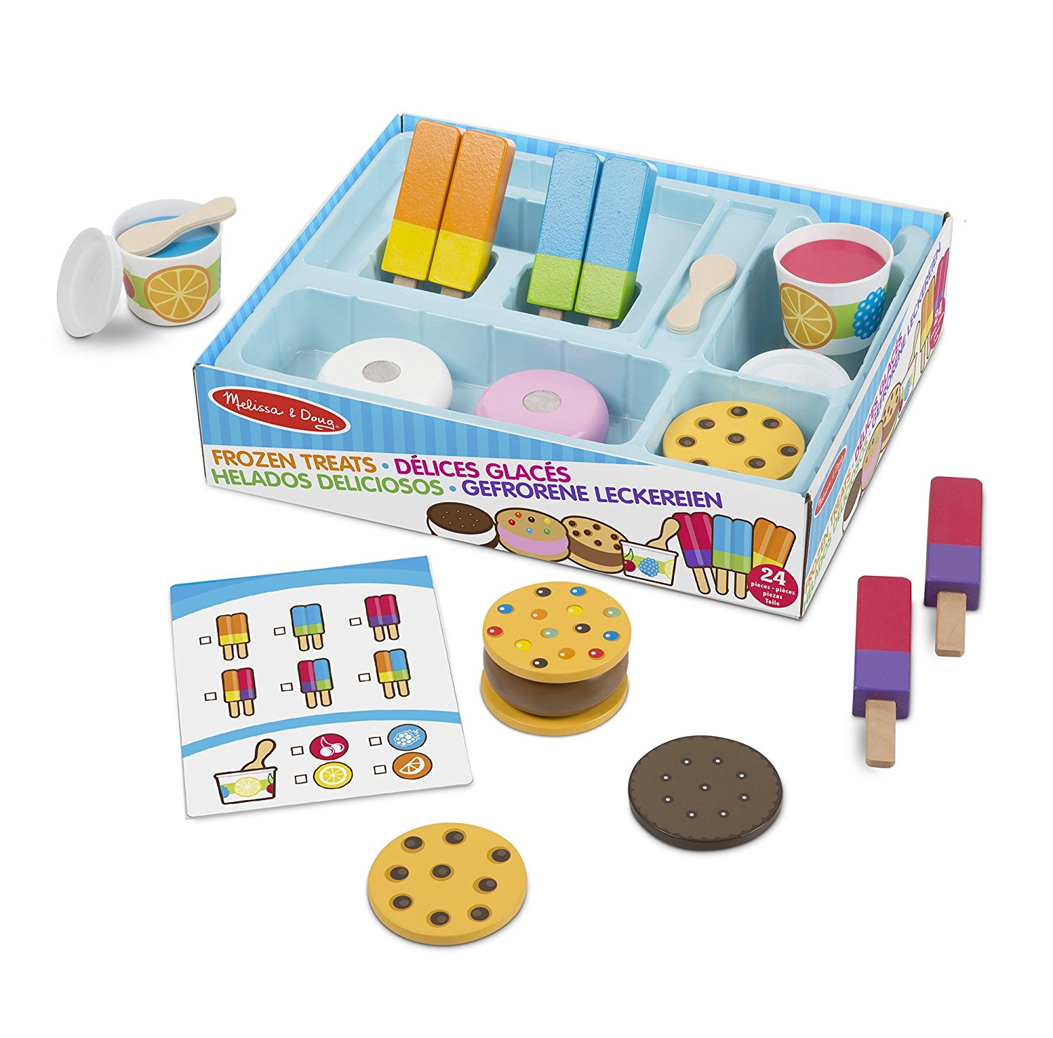 Frozen Treats Wooden Ice Cream Play Set