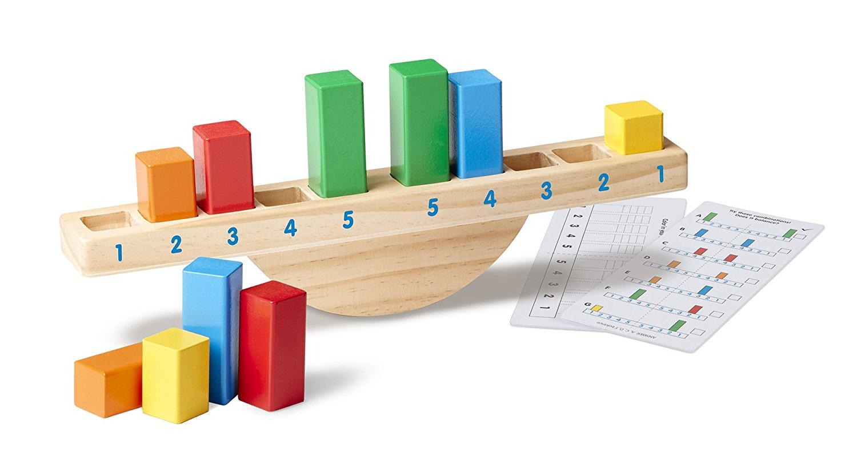 Wooden Rainbow Balance Scale