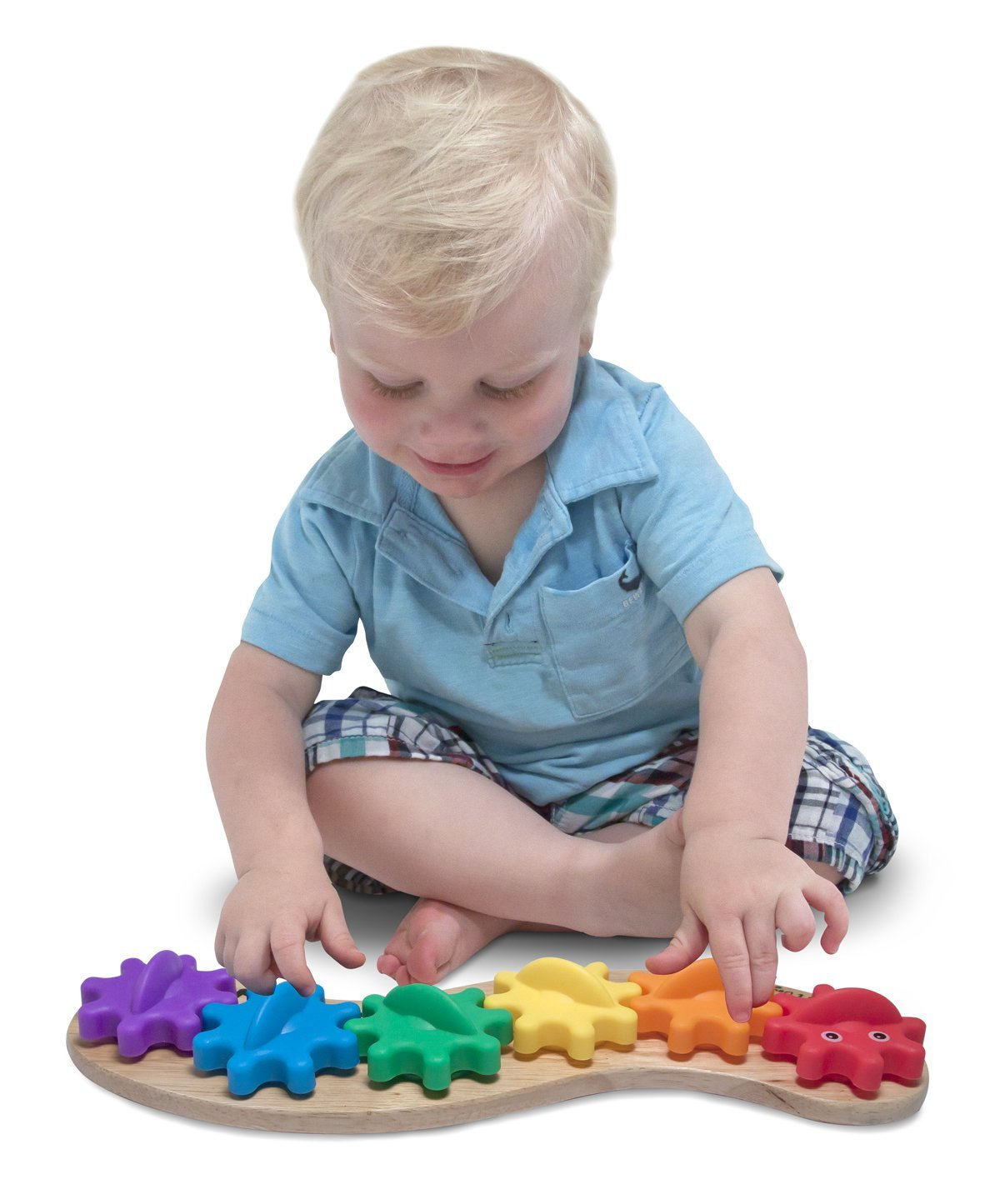 Rainbow Caterpillar Gear Puzzle