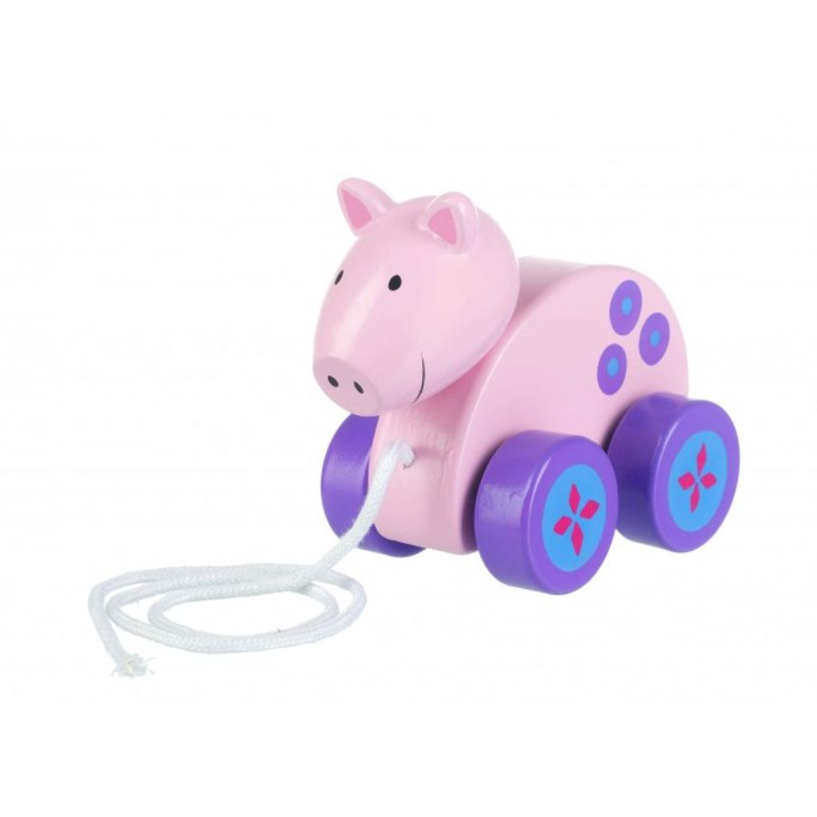 Wooden Pig Pull Along