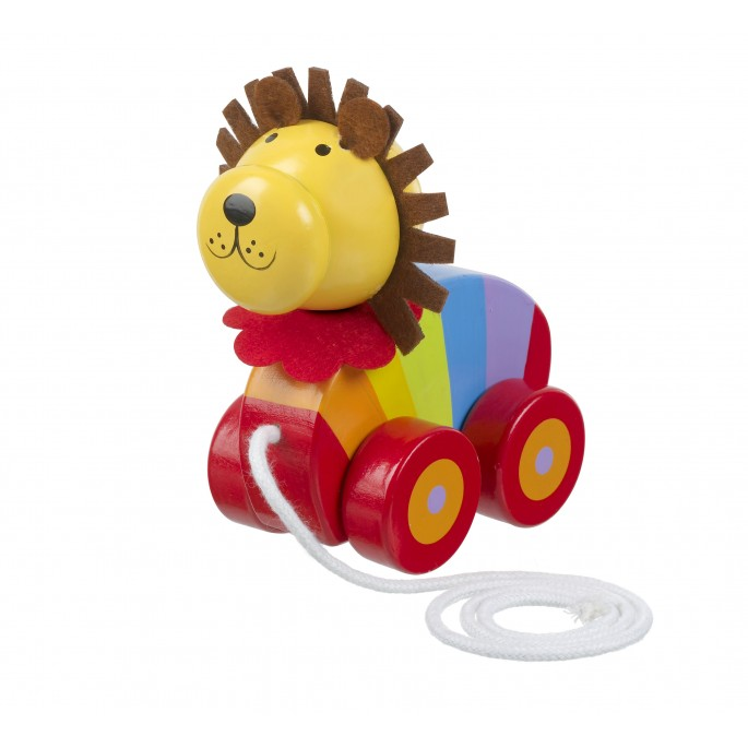 Wooden Lion Pull Along