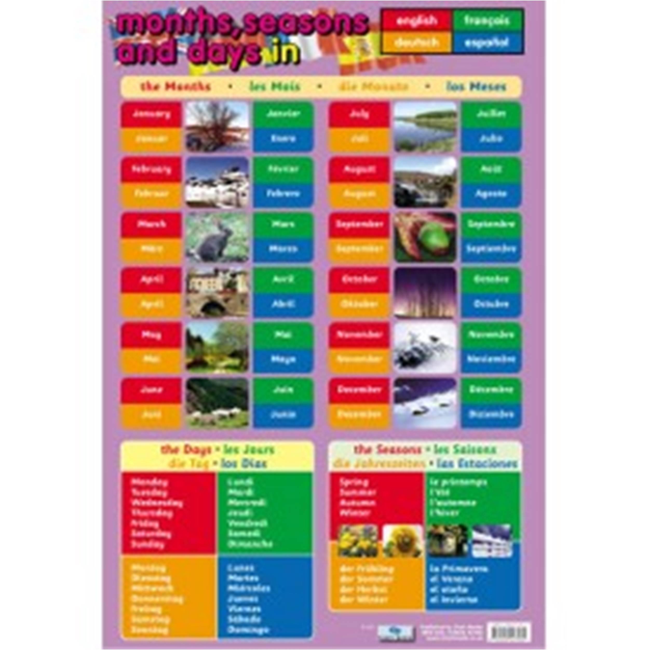 Languages Calendar Poster