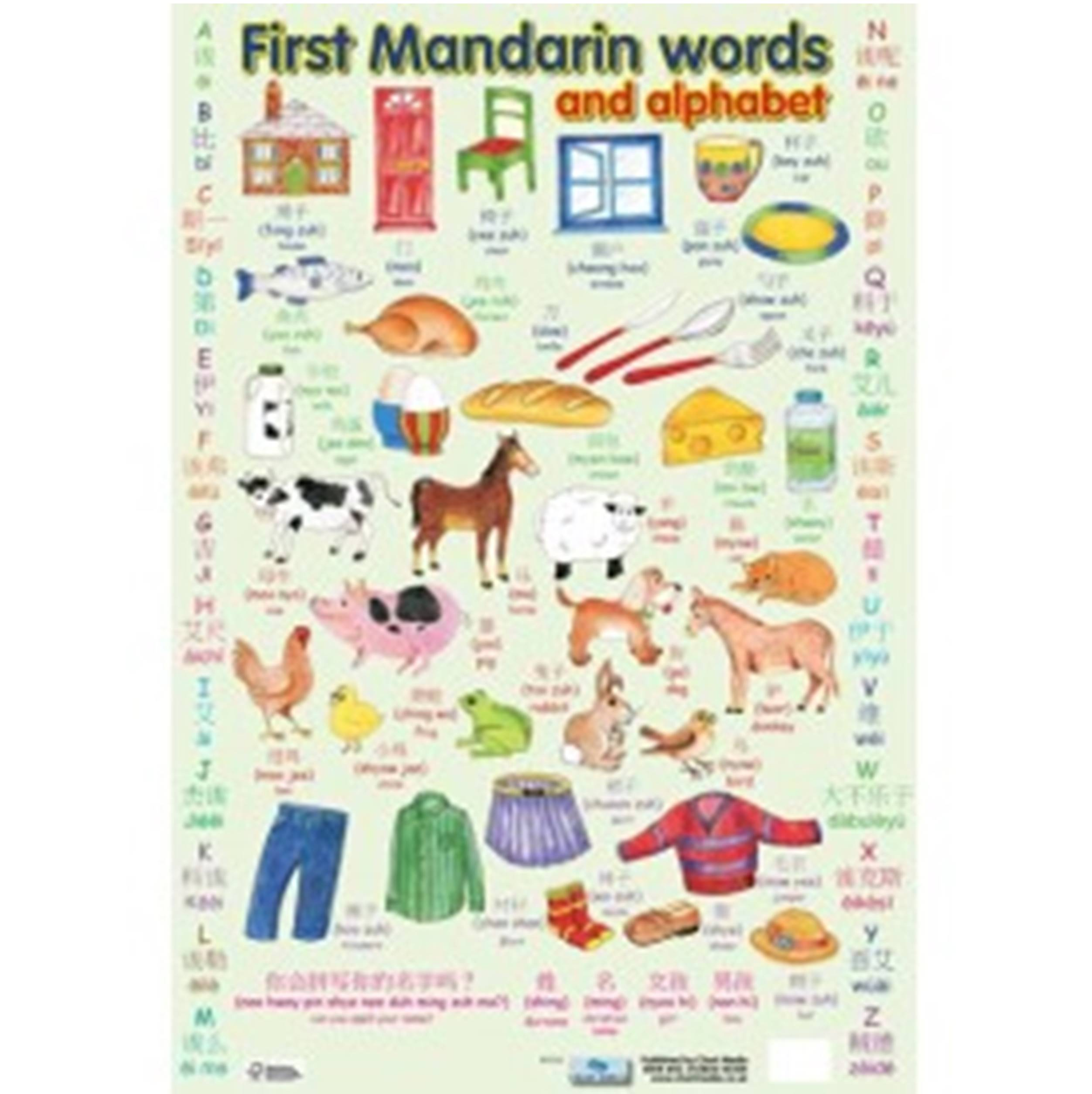First Mandarin Chinese Words Poster