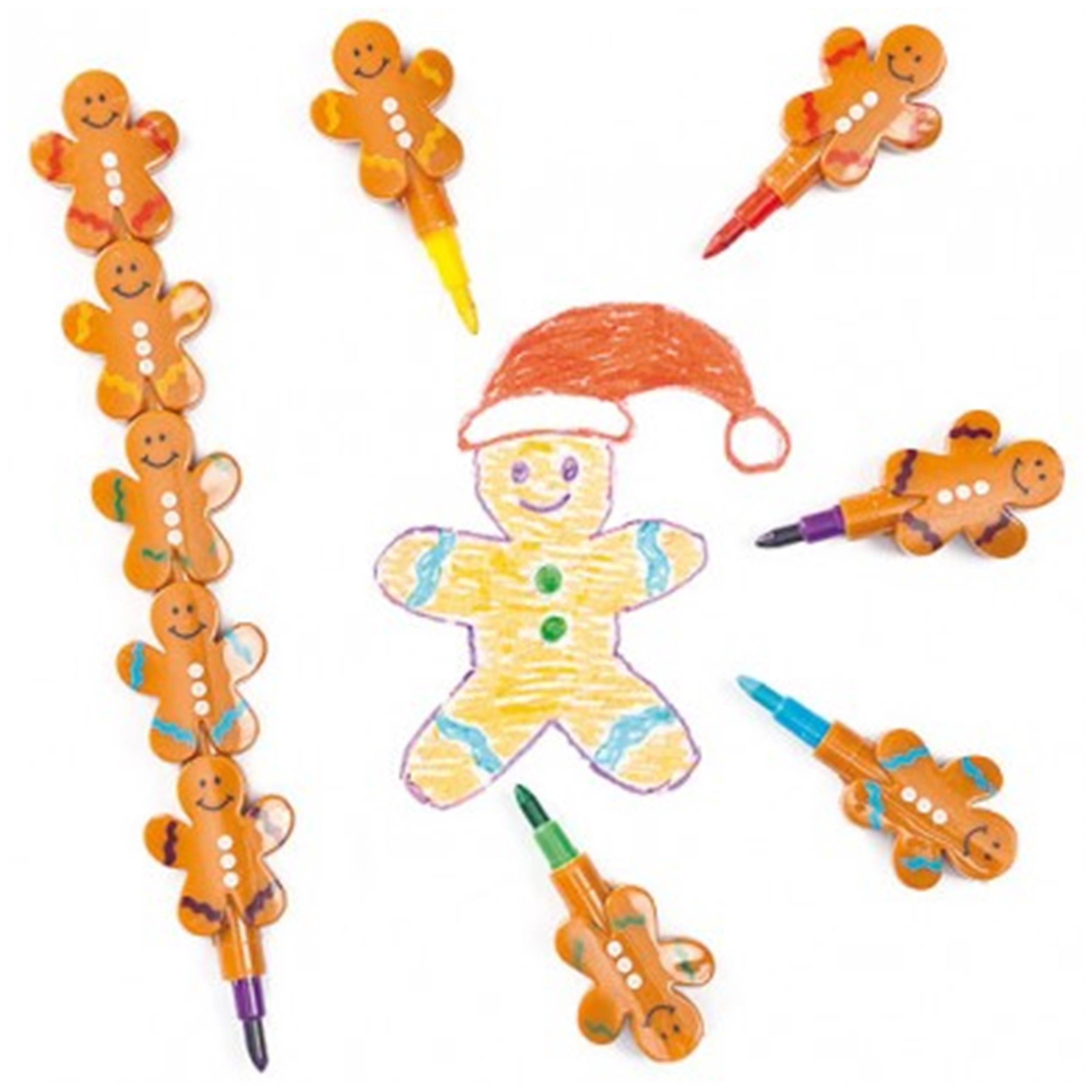 Gingerbread Man Stacking Crayons