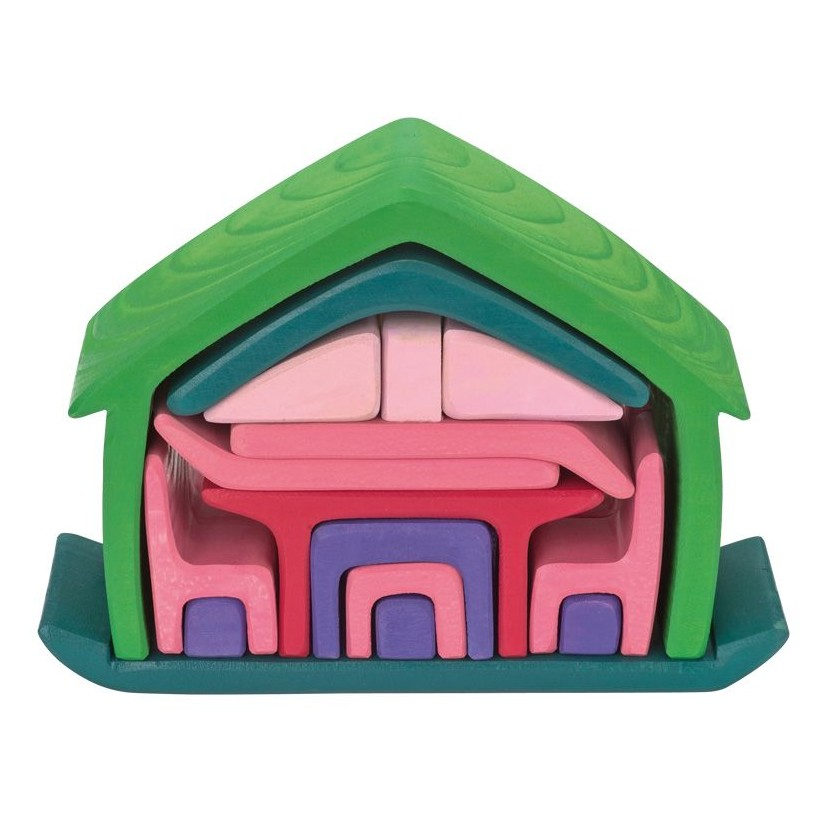 Gluckskafer Green Pink All in One House