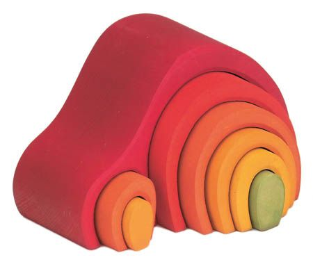 Gluckskafer Arch House 8 Pieces Red
