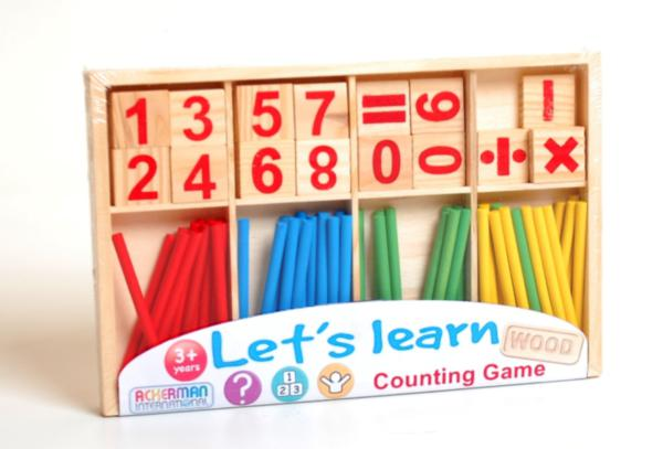 Wooden Sum and Counting Set
