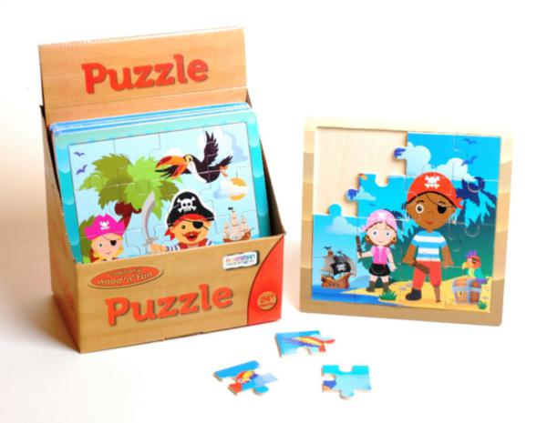 Wooden Pirate 16pc Jigsaw Puzzle Tray
