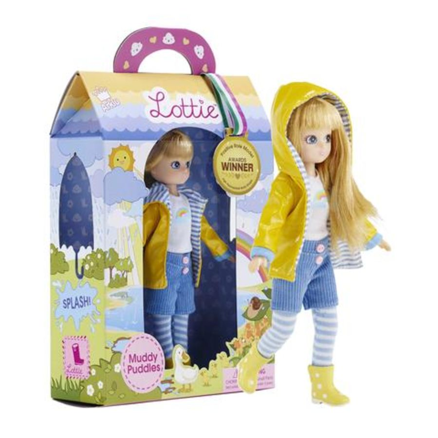 Rainy Day Muddy Puddles Lottie Doll