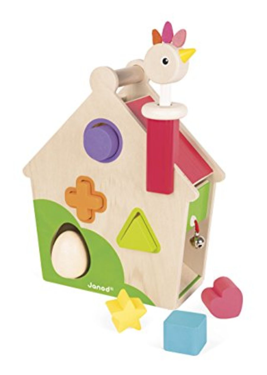 Hen Wooden Activity House Shape Sorter