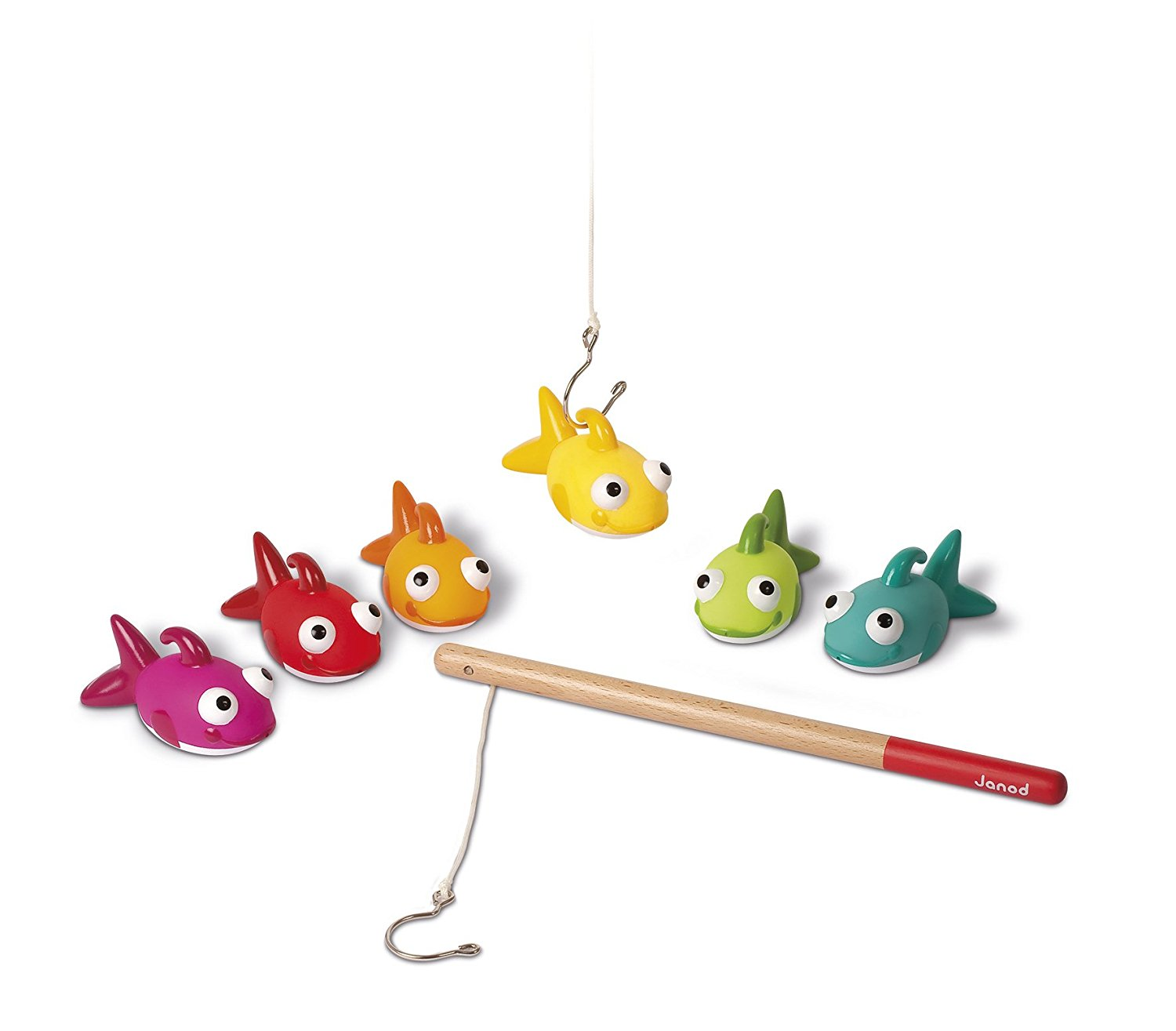 Janod Rainbow Fishy Fishing Game Bath Toy