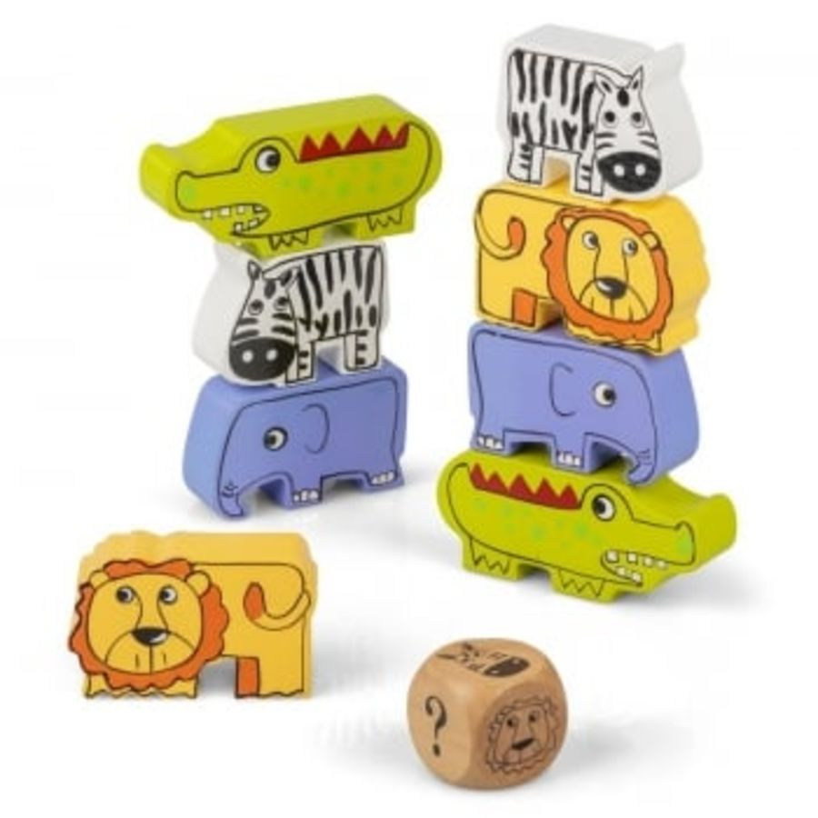 Wooden Safari Stack Game