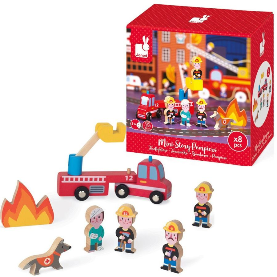 Mini Story Wooden Firefighter Set