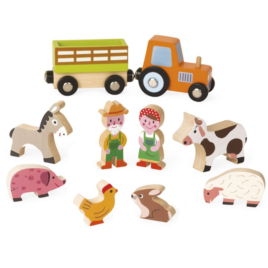 Mini Story Wooden Farm Set