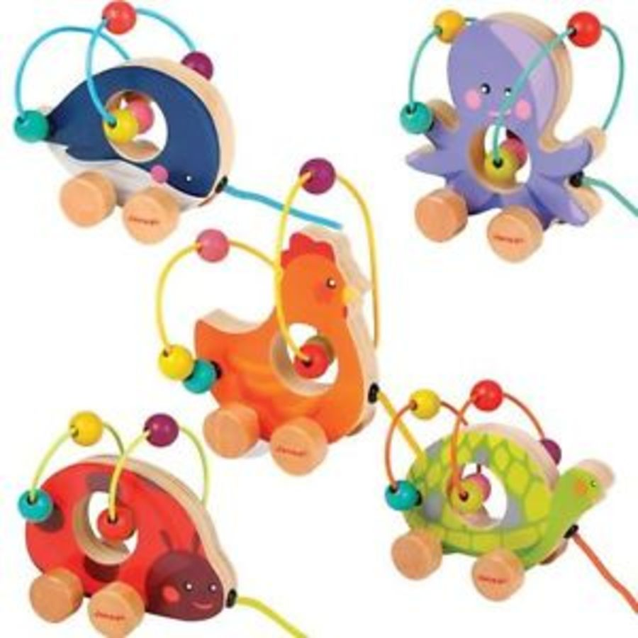 Janod Looping Bead Animal Push Along