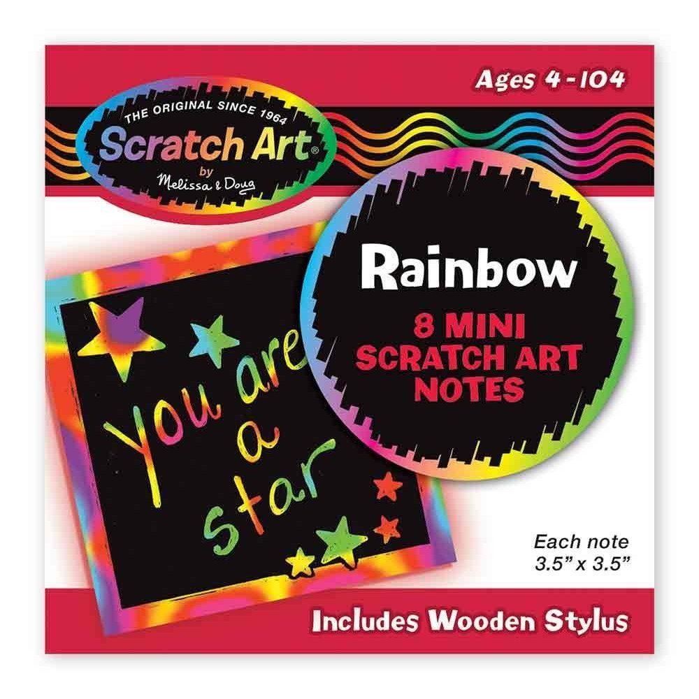 8 Rainbow Mini Scratch Art Notes