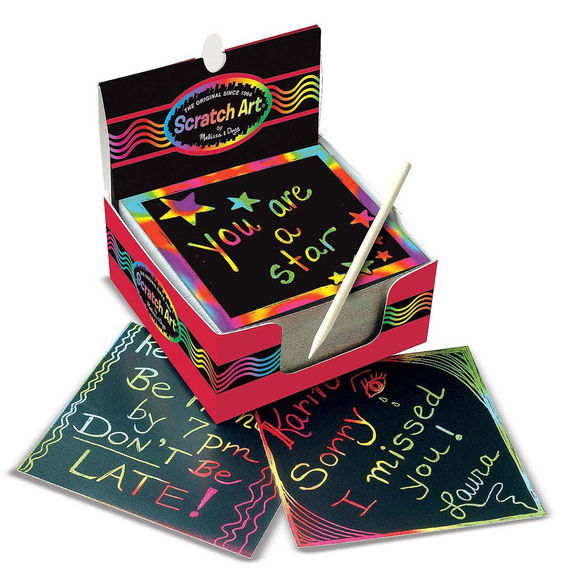 125 Mini Rainbow Scratch Art Notes Box
