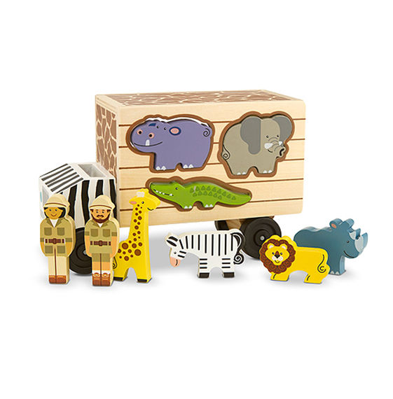 Safari Animal Rescue Truck Shape Sorter