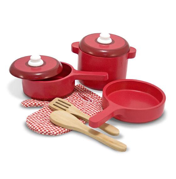 Melissa Wooden Pots & Pans Set