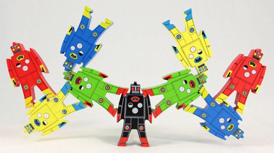 Wooden Stacking Balancing Robots