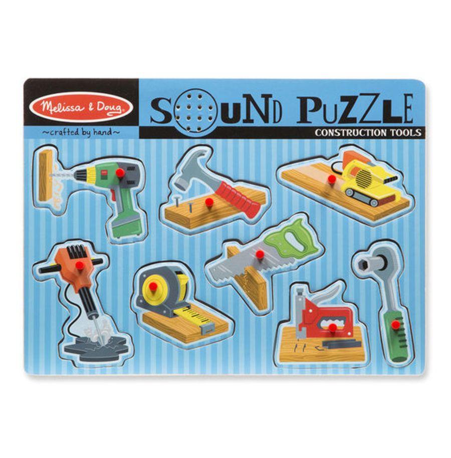 Construction Tools Sound Peg Puzzle