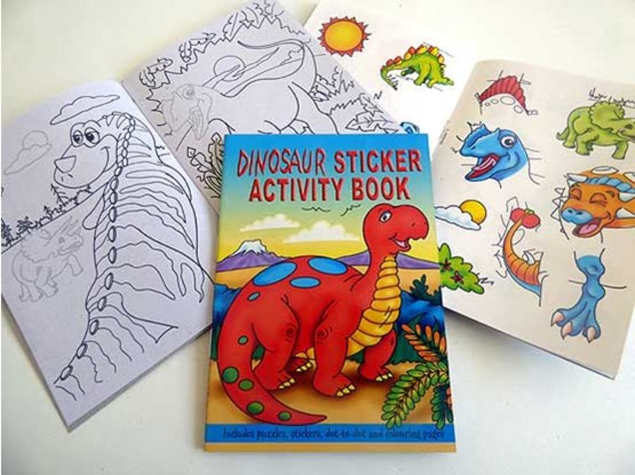 Dinosaur Sticker Activity Book A6