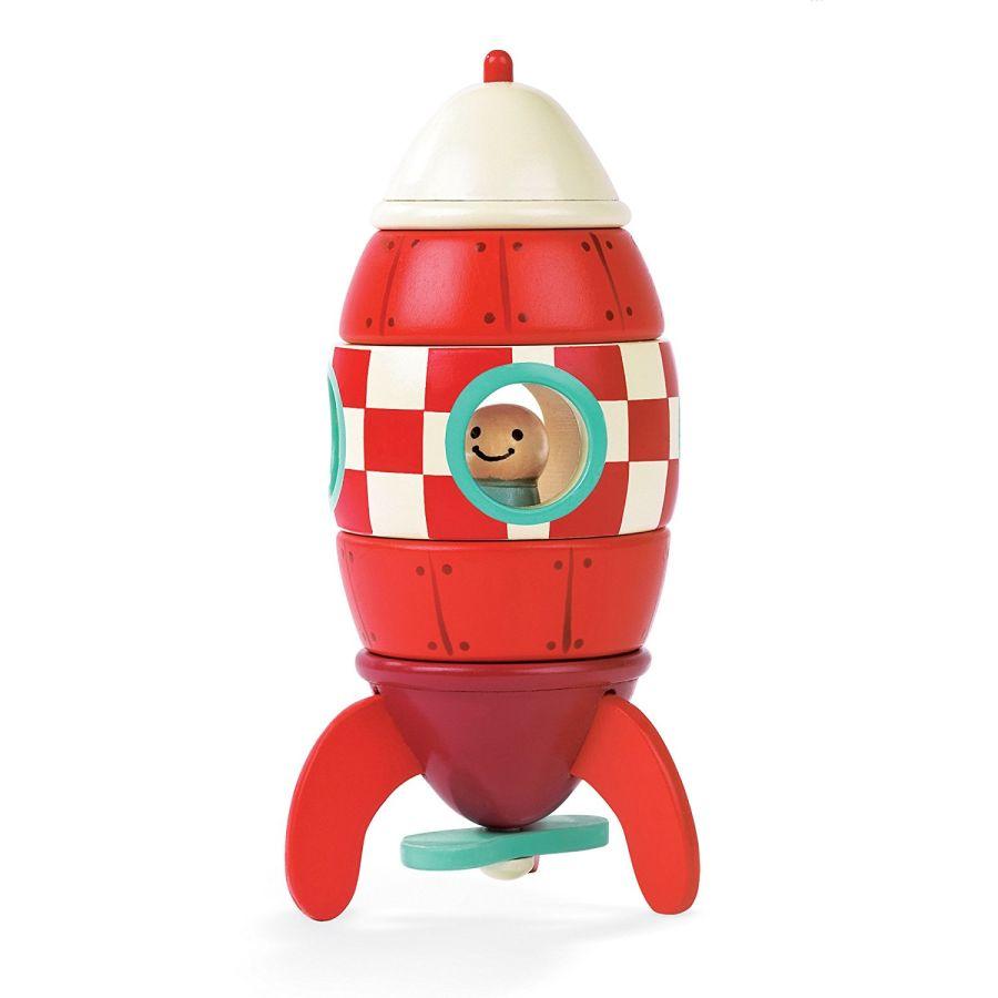 Janod Magnetic Rocket 16cm