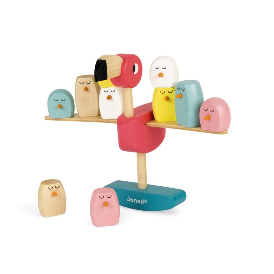 Balancing Flamingo Wooden Game