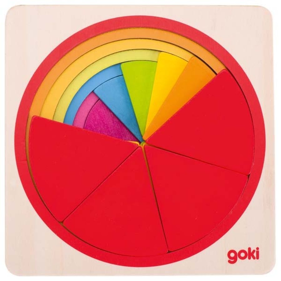 Goki Layered Rainbow Puzzle Circle