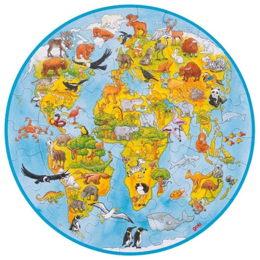 Goki XXL World Map Puzzle