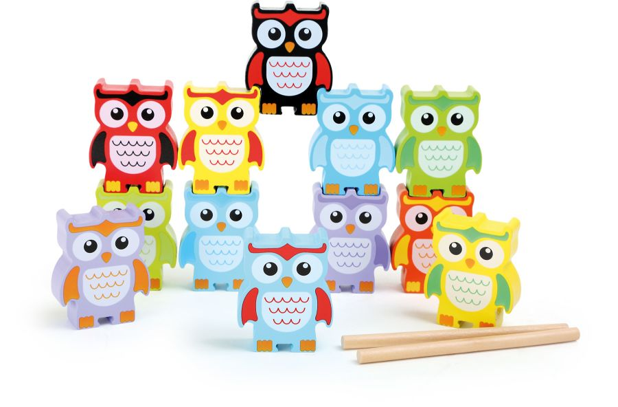 Smallfoot Wooden Stacking Owls