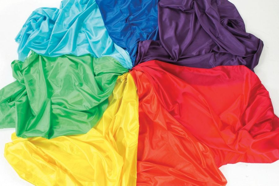 TickiT Habutae Rainbow Fabric