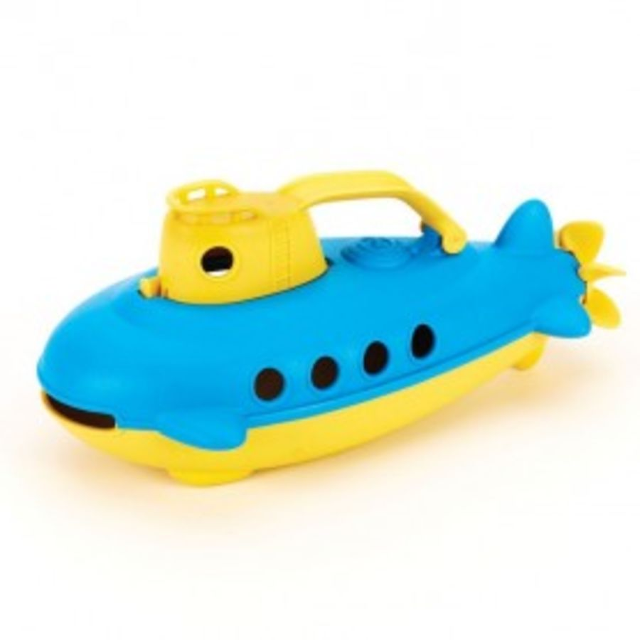 Green Toys Blue Submarine Yellow Handle