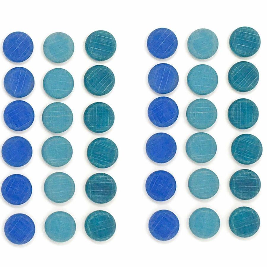 Grapat Mandala 36 Blue Little Coins