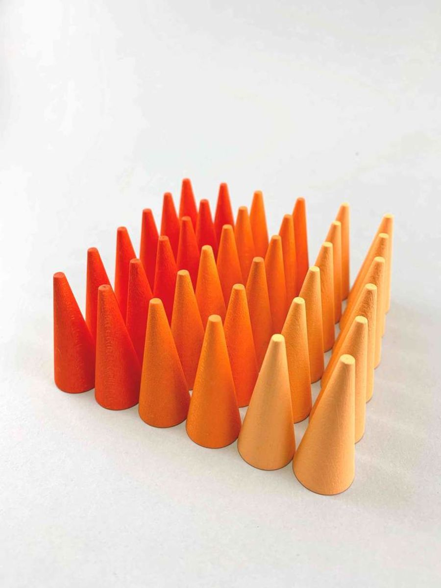 Grapat Mandala 36 Orange Cones
