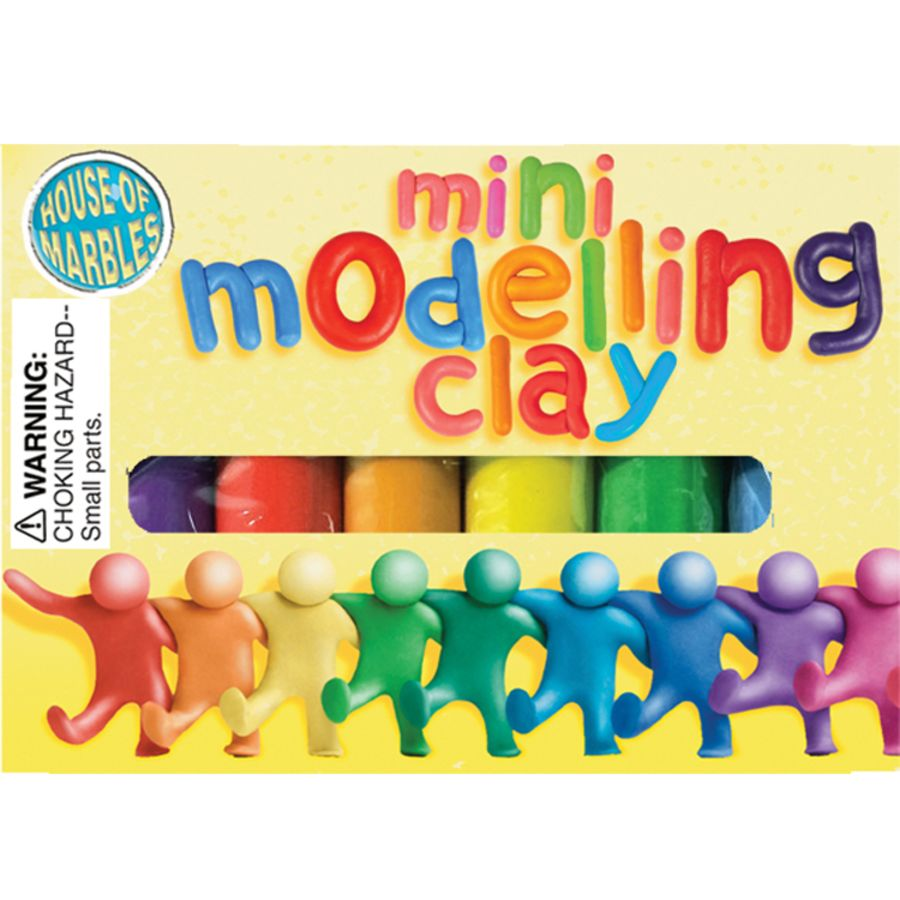 Mini Play Clay 6 Assorted Colours