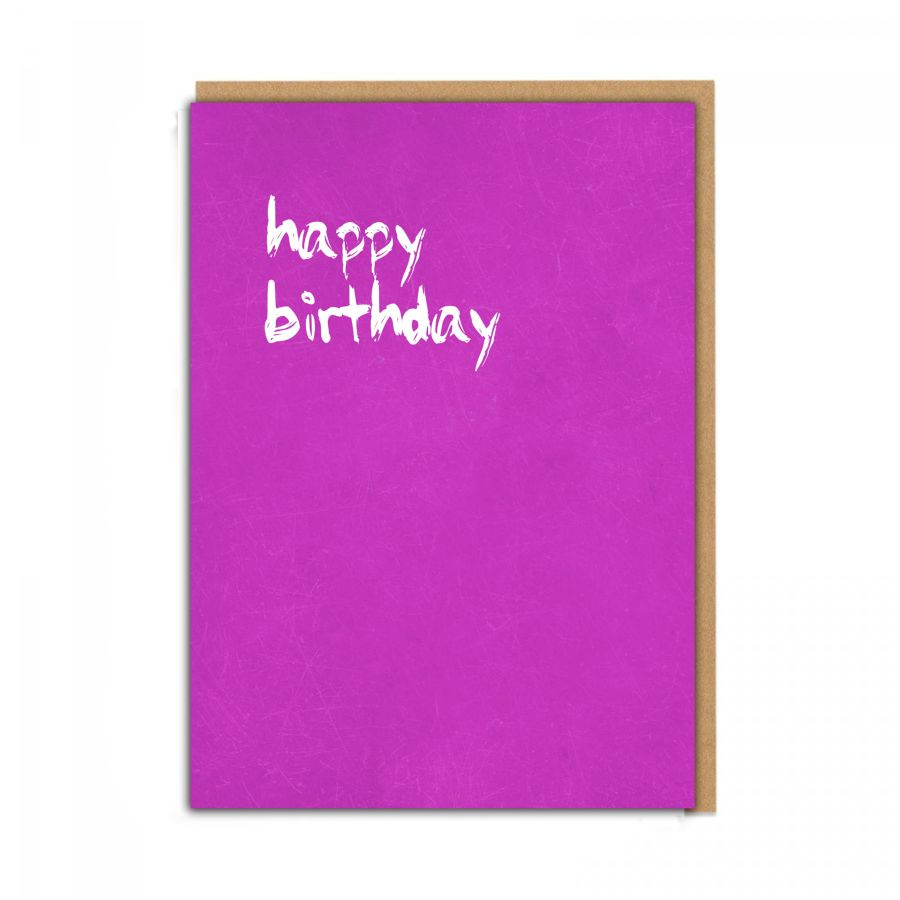 happy birthday (pink)