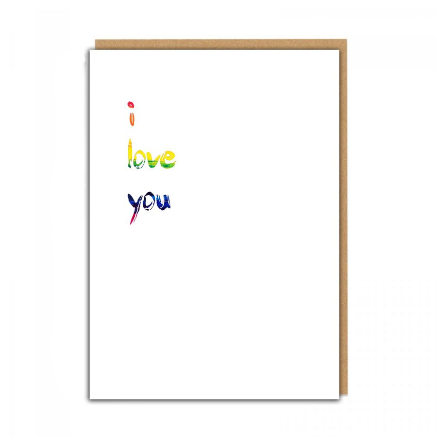 i love you (rainbow white)