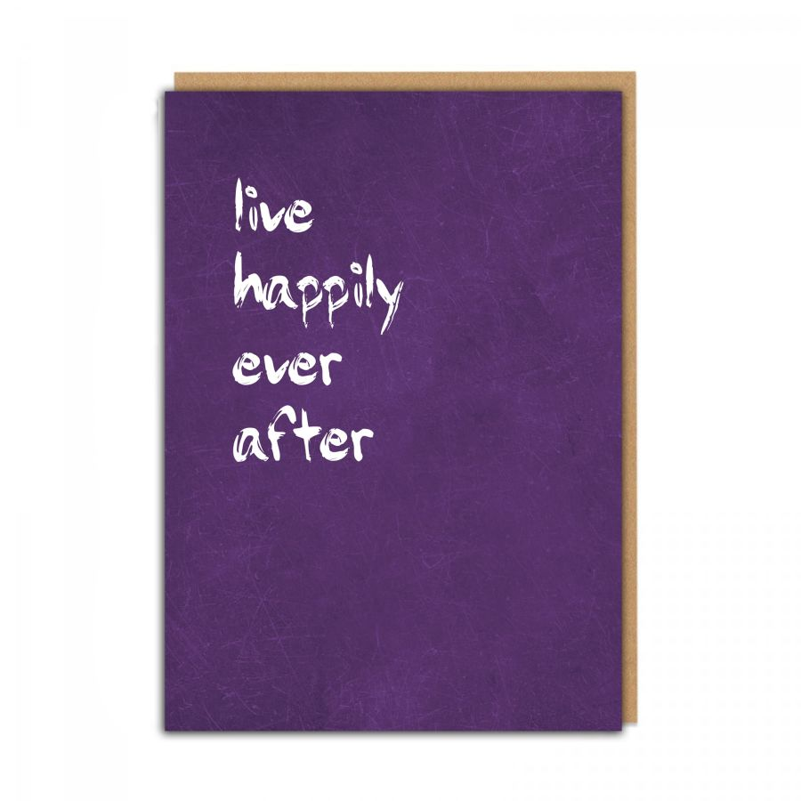 live happily (purple)