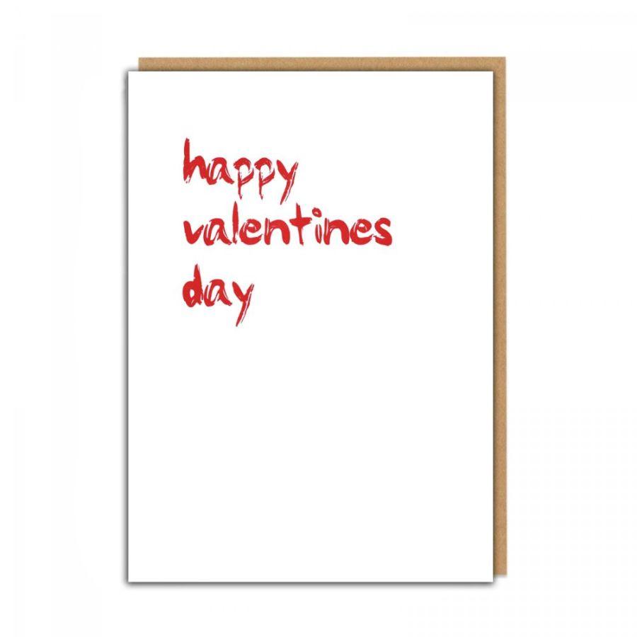 happy valentines day (white)