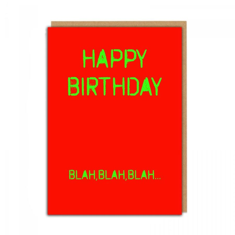 birthday blah