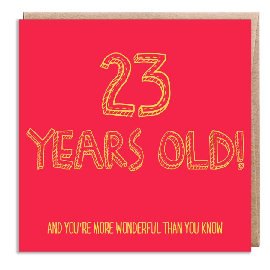 23 wonderful