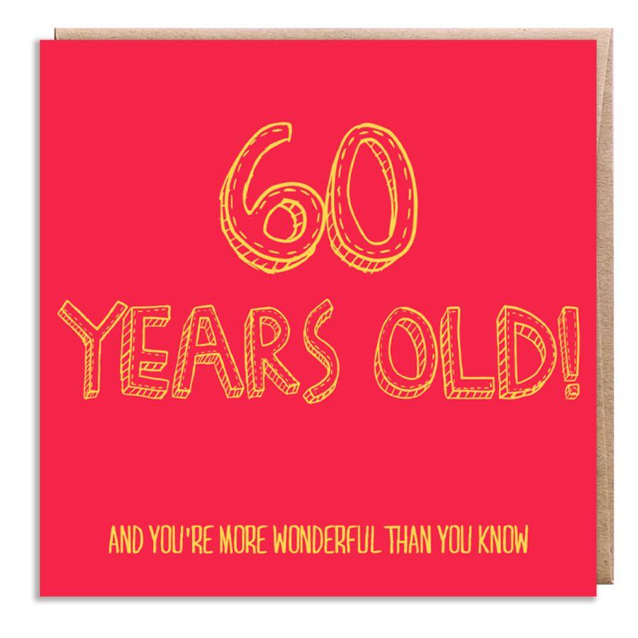 60 wonderful
